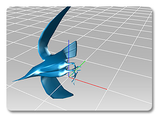 3dXchange rotate green axis Rotating the Scene