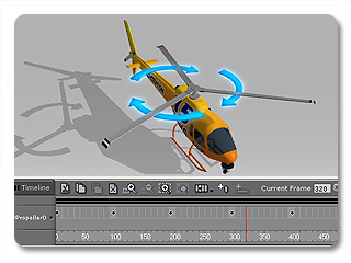 3dXchange tutorial animating 7 Animating a Static Helicopter