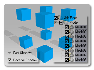 3dXchange tutorial casting 0 Casting and Receiving Shadow
