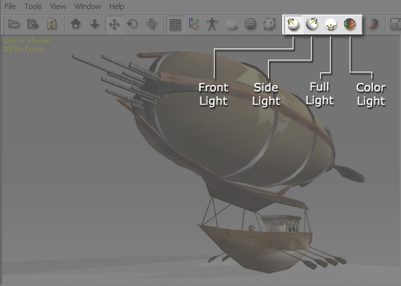 3dXchange ui lights Lights