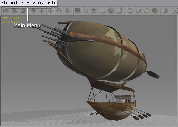 3dXchange ui main menu User Interface   Main Menu