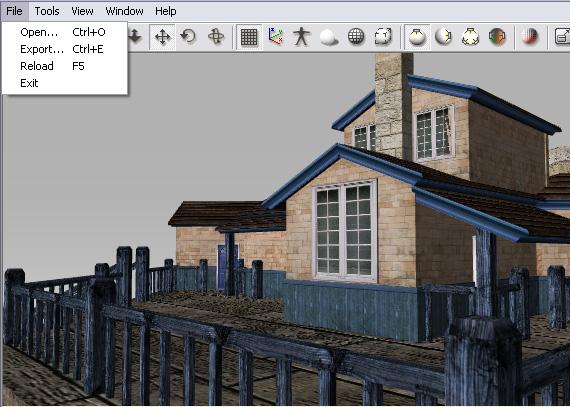 3dXchange ui main menu file User Interface   Main Menu   File