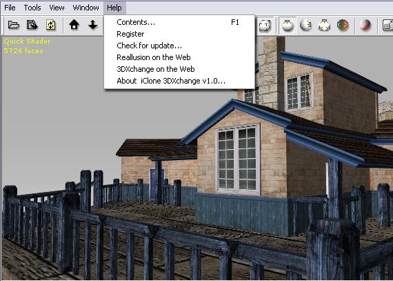 3dXchange ui main menu help User Interface   Main Menu   Help