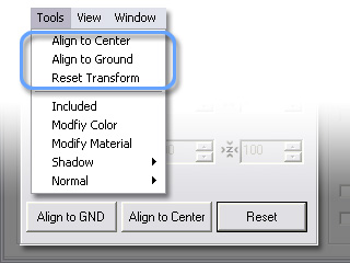 3dXchange ui main menu tools map transform User Interface   Main Menu   Tools