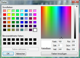 "ACDSee Photo Manager SS Color Dialog Arbeiten mit dem Dialogfeld ""Farbe"""