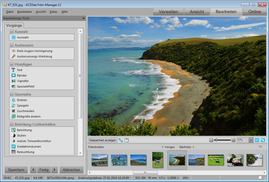ACDSee Photo Manager SS Edit mode Std Bearbeitungsmodus