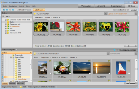 ACDSee Photo Manager onlineMde 449x288 Onlinemodus