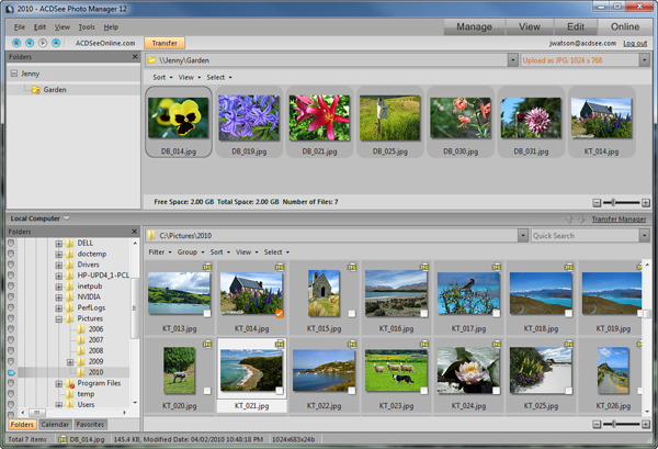 ACDSee Photo Manager SS Online mode Std Online mode