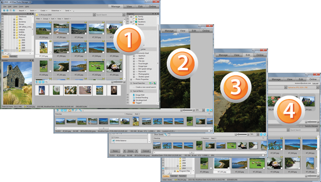 ACDSee Photo Manager SS Std12 GUI About the ACDSee user interface
