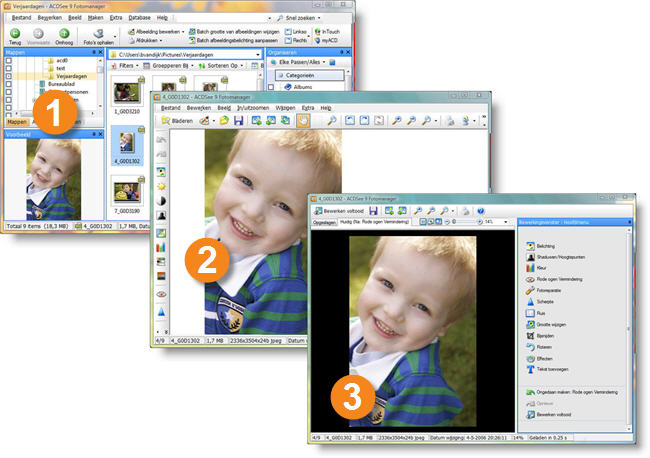 ACDSee Photo Manager SS ACDSee Viewer EditModeVista Over de gebruikersinterface van ACDSee
