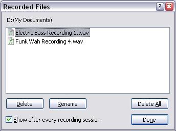 Acid Pro recordedfilesdialog Recording Using an Input Bus