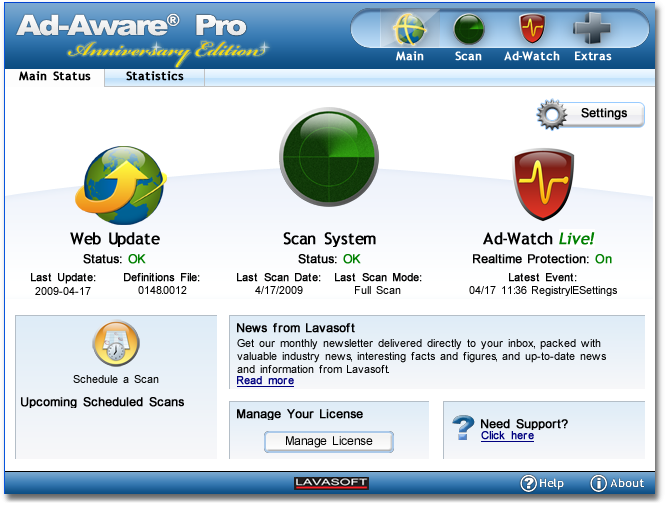 Ad Aware 1mainscreen Registering Your Product