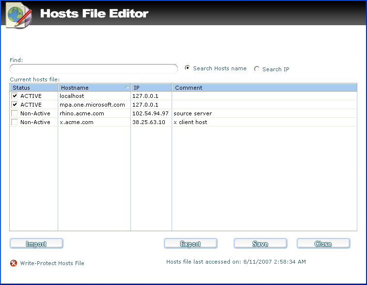 Ad Aware 22hostfile editor Host File Editor