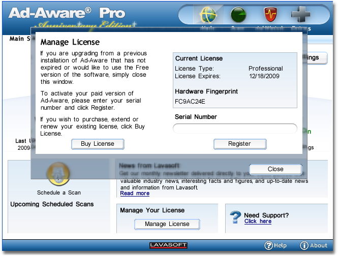 Ad Aware 2managelicense Manage License