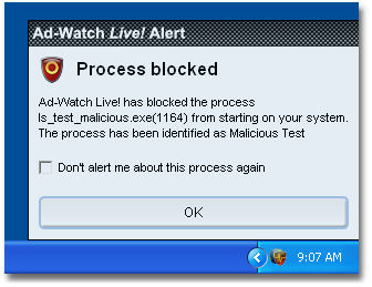 Ad Aware 31adwatch alert processes Process Notification