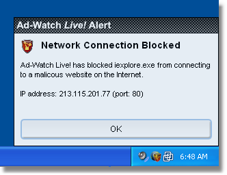 Ad Aware 34adwatch alert network Network Notification
