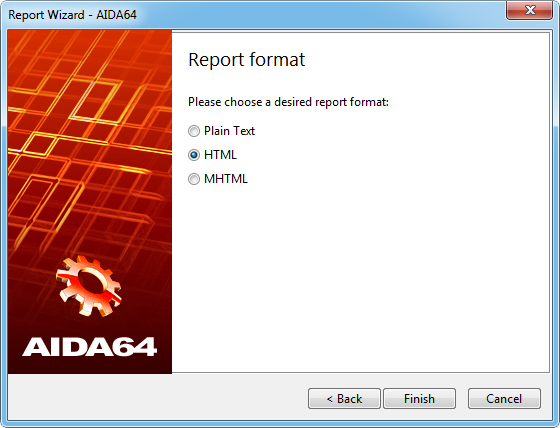 Aida64 reportwizard page4 Report format