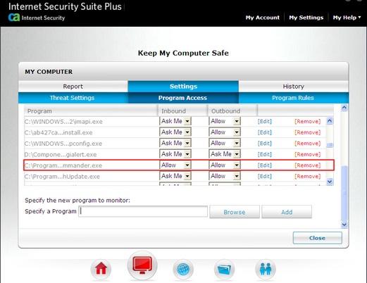 Alert Commander ca firewall 3 CA Internet Security Suite