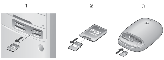Alert Commander inserting microsd Insertar la tarjeta microSD en la cámara