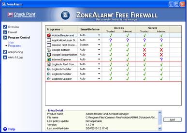 Alert Commander zone alarm free 4 ZoneAlarm gratuito
