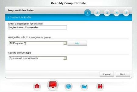 Alert Commander ca firewall rule 2 CA Internet Security Suite