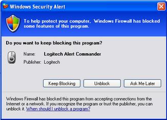 Alert Commander microsoft security alarm 1 Pare feu Microsoft