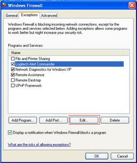 Alert Commander microsoft security alarm 2 Pare feu Microsoft