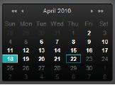 Alert Commander calendar Riproduzione di registrazioni video