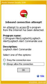Alert Commander panda access 1 Panda Internet Security 2010
