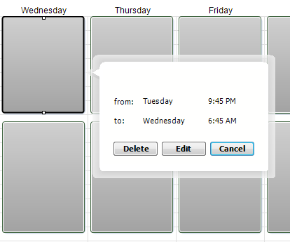 Alert Commander schedule details Modifica di una pianificazione preimpostata