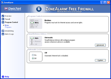 Alert Commander zone alarm free 3 ZoneAlarm Free