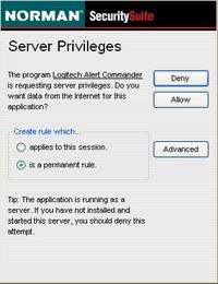 Alert Commander norman logitech installer 3 Norman Security Suite