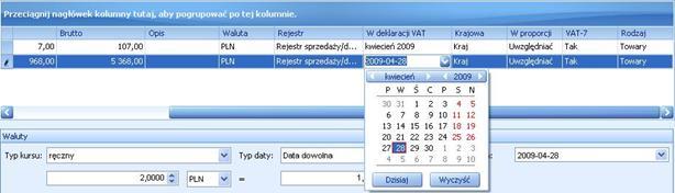 ALTUM image1025 Dodawanie elementu faktury VAT ręcznie