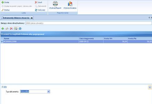 ALTUM image946 Lista dokumentów bilansu otwarcia