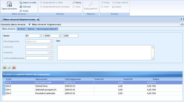 ALTUM image948 Lista dokumentów bilansu otwarcia