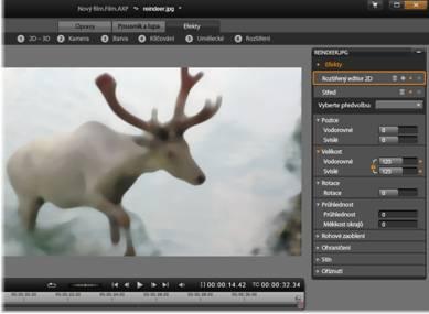 Avid Studio image001 Editace médií: Efekty