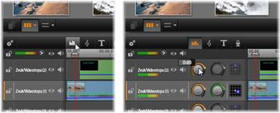 Avid Studio image002 Funkce zvuku na časové ose