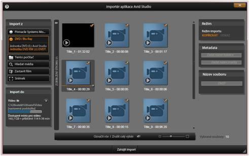 Avid Studio image002 Použití importéru