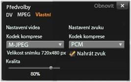 Avid Studio image001 Okno možností komprese