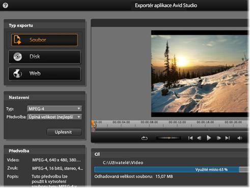 Avid Studio image002 Exportér