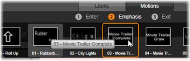 Avid Studio image001 Forudindstilling af animationer