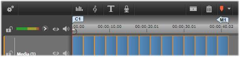 Avid Studio image001 Tidslinjens menumarkører
