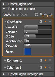 Avid Studio image001 Einstellungen Looks