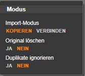 Avid Studio image004 Das Panel 'Modus'