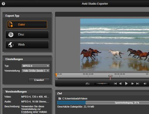 Avid Studio image002 Der Exporter