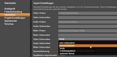 Avid Studio image002 Einstellungen