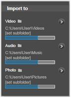 Avid Studio image001 The Import To panel