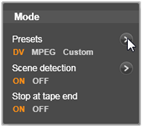 Avid Studio image001 The Mode panel