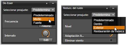 Avid Studio image002 Correcciones de audio