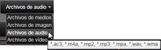 Avid Studio image009 Seleccionar archivos a importar
